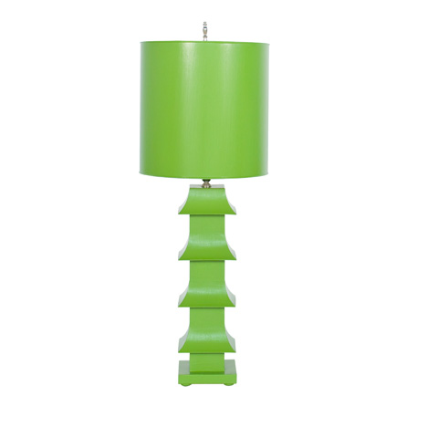 Worlds Away - Green Pagoda Lamp - LMPHG