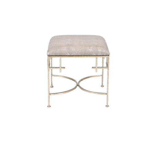 Worlds Away - Hammered Champagne Stool - LOLITA SN
