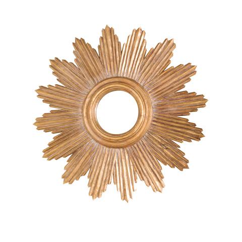 Worlds Away - Handcarved Gold Leaf Starburst Mirror - LUDWIG G