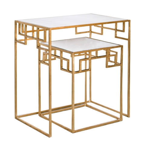 Worlds Away - Two Piece Nesting Tables - MANDARIN G