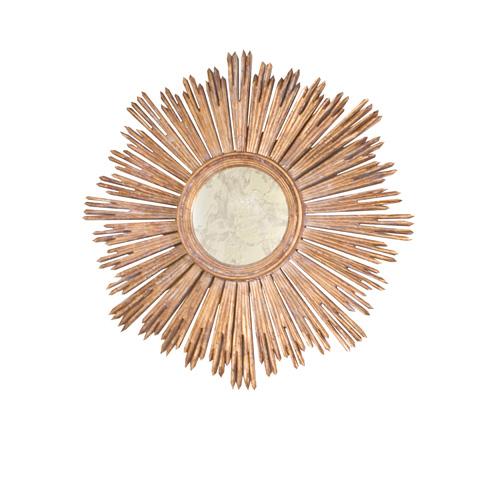 Worlds Away - Handcarved Gold Leaf Starburst Mirror - MARGEAUX G