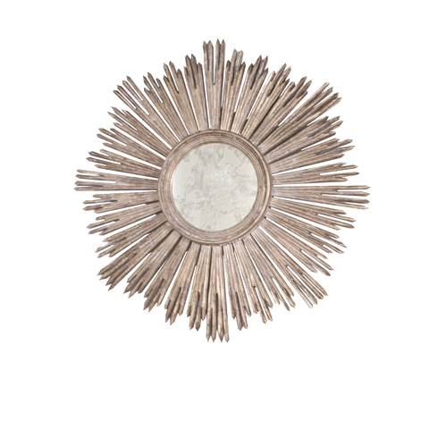 Worlds Away - Handcarved Silver Leaf Mirror - MARGEAUX S