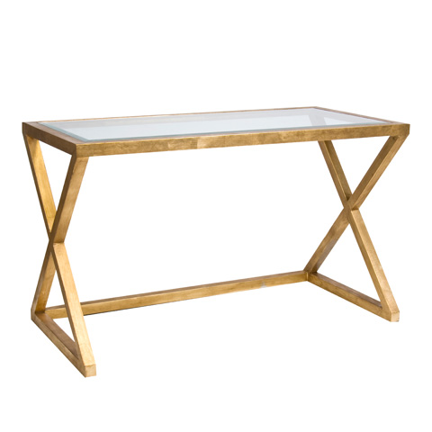 Worlds Away - Gold Leaf Desk - MARK G