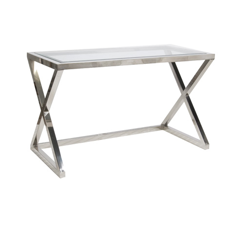 Worlds Away - Stainless Steel Desk - MARK N