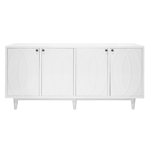 Image of White Lacquer Four Door Buffet