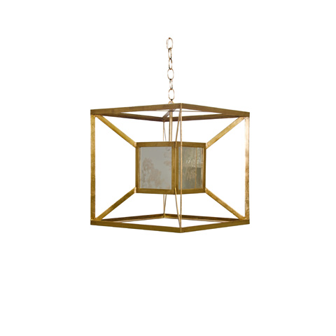Worlds Away - Gold Iron Box Pendant - MAXWELL AMG