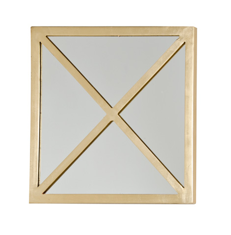 Worlds Away - Square Gold Leaf X Mirror - MIRTACX