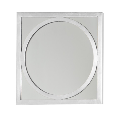 Worlds Away - Square Champagne Silver Leaf O Mirror - MIRTICOS