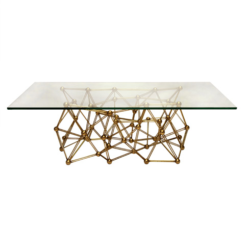 Worlds Away - Gold Leaf Iron Coffee Table - MOLECULE CFG60