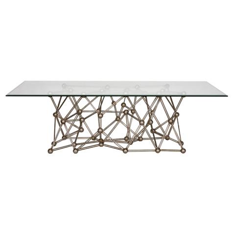 Worlds Away - Silver Leaf Iron Coffee Table - MOLECULE CFS60
