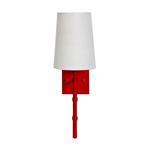 Worlds Away - Red Bamboo Sconce - MOLLY R