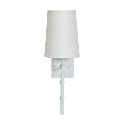 Worlds Away - White Bamboo Sconce - MOLLY WH