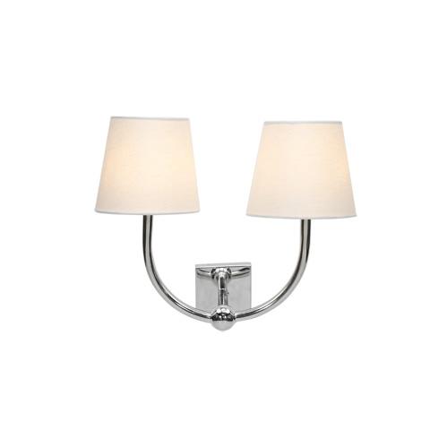 Worlds Away - Nickel Plated Iron Wall Lamp - NADIA N