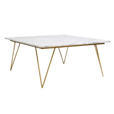 Worlds Away - Gold Leaf Coffee Table - NEAL GW