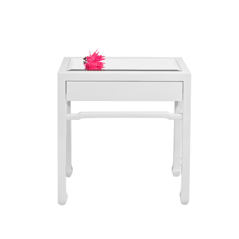 Worlds Away - Oriental Nightstand - NIGHTRIGHT WH