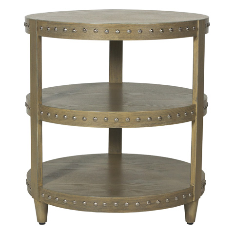 Worlds Away - Limed Oak Side Table - NORA LIO