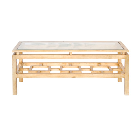 Worlds Away - Gold Leaf Coffee Table - PIERRE G