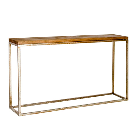 Worlds Away - Console with Silver Leaf Base - PLANKTON CONS