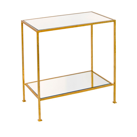 Worlds Away - Gold Leaf Side Table - PLANO G