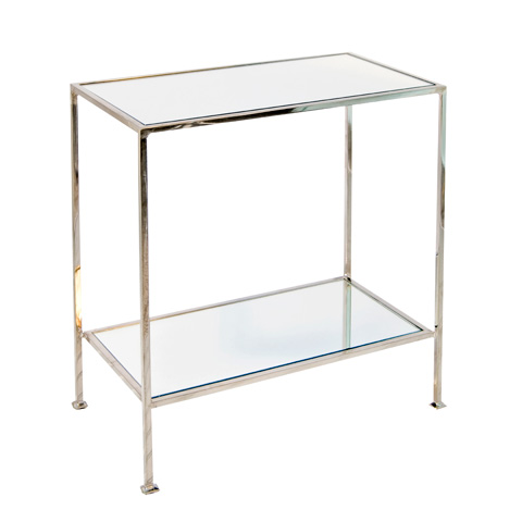 Worlds Away - Nickel Plated Side Table - PLANO N