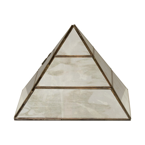 Worlds Away - Antique Mirror Large Pyramid - PYRAMID AMLG