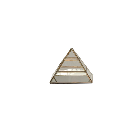 Worlds Away - Clear Glass Small Pyramid - PYRAMID CLSM