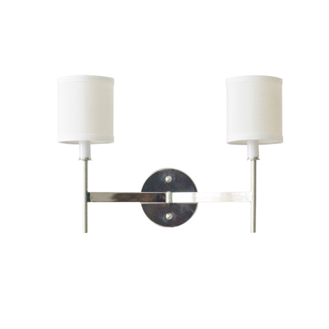 Worlds Away - Two Arm Nickel Plated Sconce - RANDOLPH N