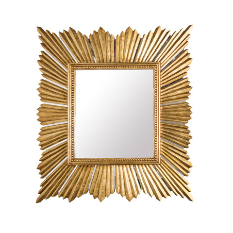 Worlds Away - Gold Leaf Raymond Mirror - RAYMOND GL