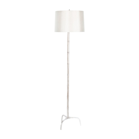 Worlds Away - Silver Leaf Bamboo Floor Lamp - RENE S
