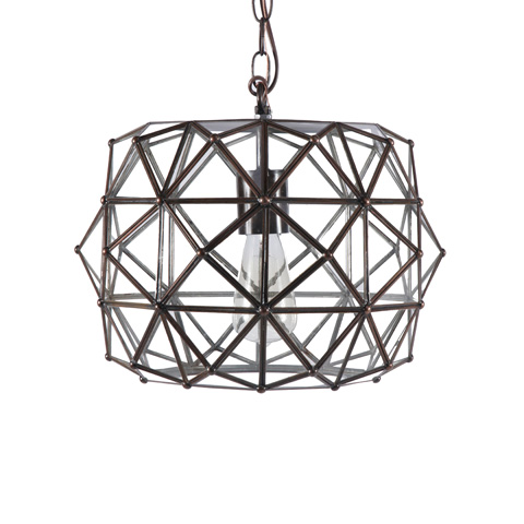 Worlds Away - Tin and Clear Glass Chandelier - ROZZ CLR