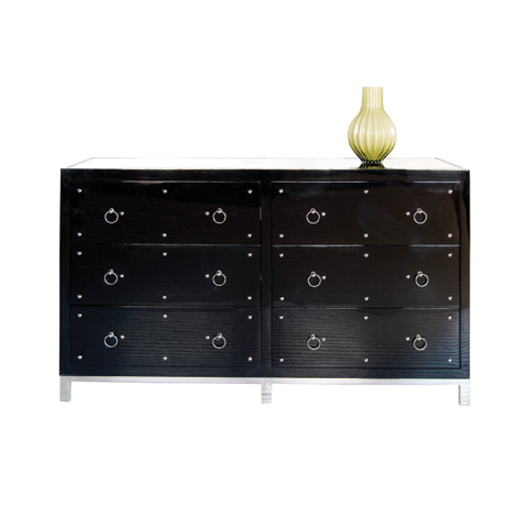 Worlds Away - Black Lacquer Buffet - STUDLY DRB