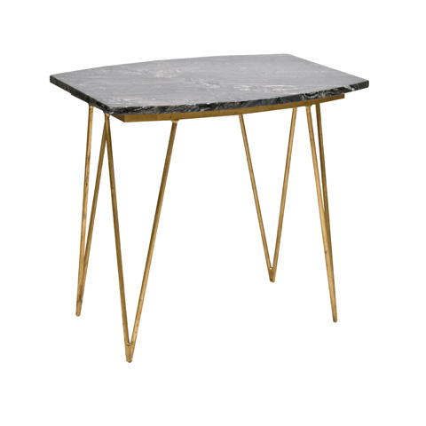 Worlds Away - Gold Leaf Side Table - SUZY GB