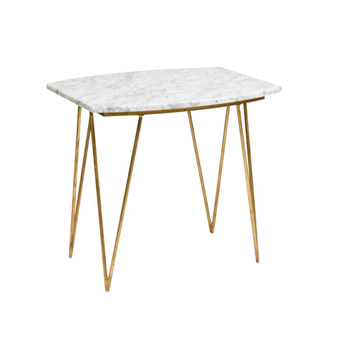 Worlds Away - Gold Leaf Side Table - SUZY GW