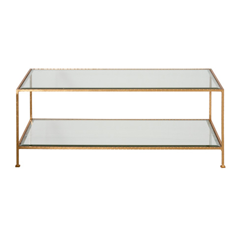 Worlds Away - Gold Leaf Coffee Table - TAYLOR G