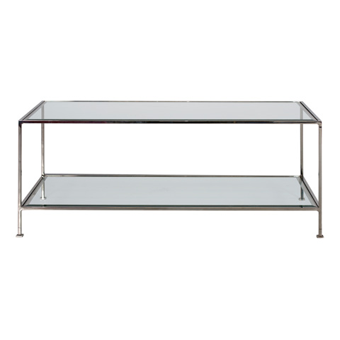 Worlds Away - Nickel Plated Coffee Table - TAYLOR N