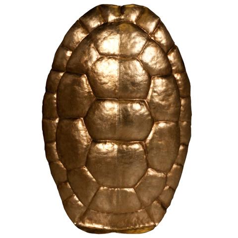 Worlds Away - Gold Leaf Tortoise Shell Wall Decor - TORTUGA GLG