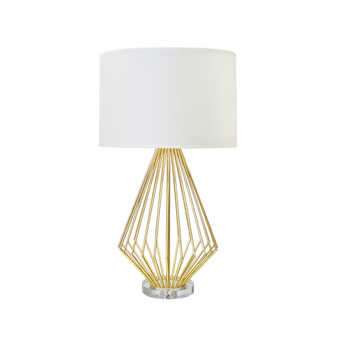 Worlds Away - Gold Leaf Table Lamp - TRUMAN G