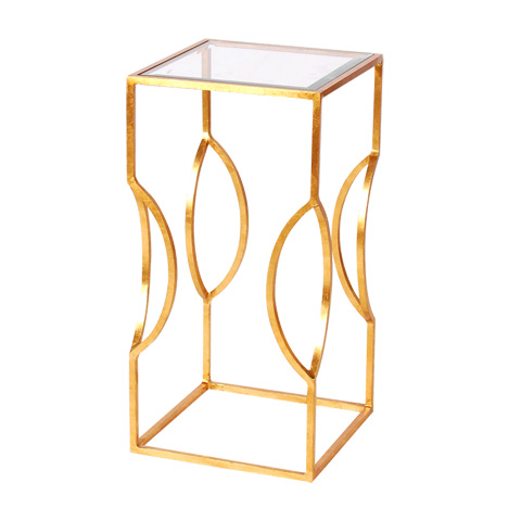 Worlds Away - Gold Leaf Occasional Table - TULIP G