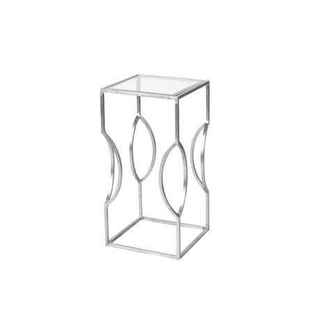 Worlds Away - Silver Leaf Occasional Table - TULIP S