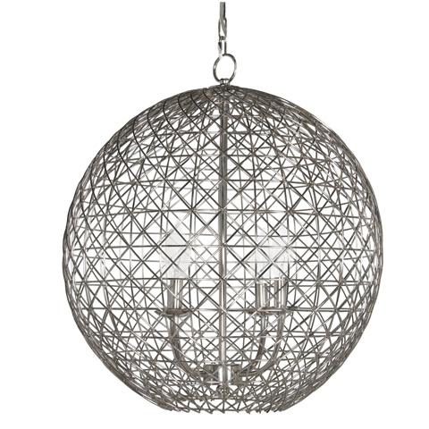 Worlds Away - Large Nickel Plated Wire Ball - VERONA N22
