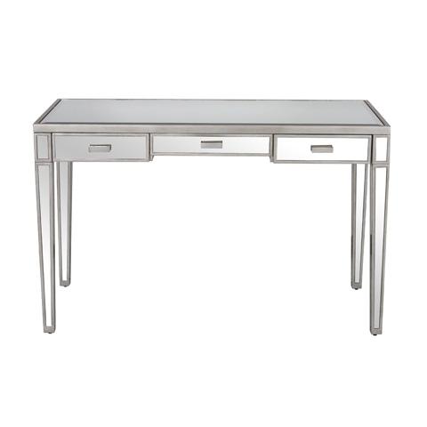 Worlds Away - Three Drawer Desk - VIVIEN
