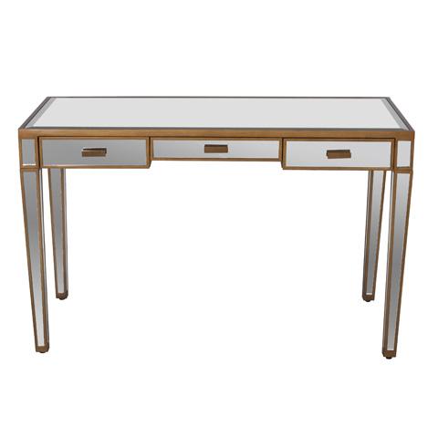 Worlds Away - Three Drawer Desk - VIVIEN G