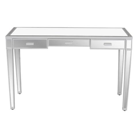 Worlds Away - Three Drawer Desk - VIVIEN WH