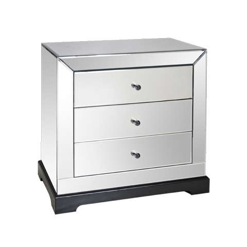 Worlds Away - Three Drawer Mirrored Chest - WA-CHST-1