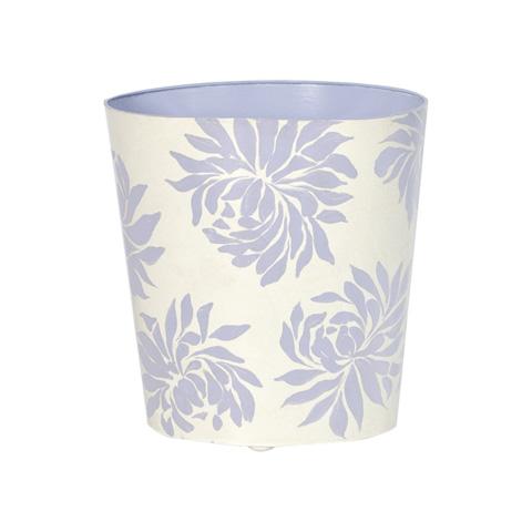 Worlds Away - Lavendar Floral Wastebasket - WBDAHLIAL