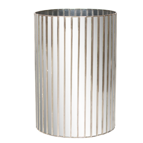 Image of Antique Mirror Wastebasket