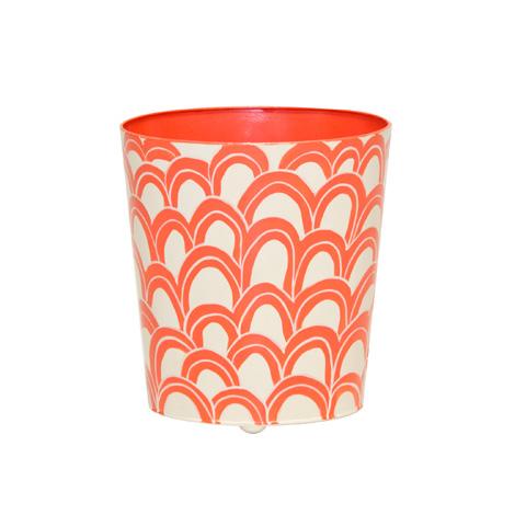 Worlds Away - Orange and Cream Wastebasket - WBGASTONOR