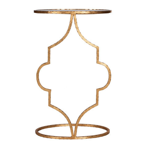 Worlds Away - Hammered Gold Leaf Cigar Table - WILLA G
