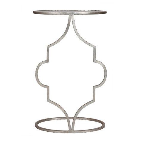 Worlds Away - Hammered Silver Leaf Cigar Table - WILLA S