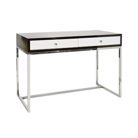 Worlds Away - Rosewood Two Drawer Desk - WILLIAM ROSESS